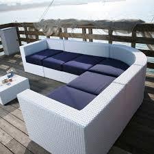 canapé d angle de jardin canapé d angle modulable contemporain de jardin bahia