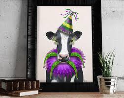 mardi gras decorations clearance mardi gras cow etsy