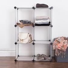 wardrobe storage cabinet white ksp closet cube plastic storage cabinet white black kitchen