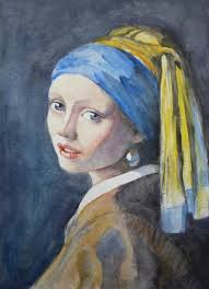 pearl earring painting portrait of a girl with the pearl earring by annalobello on deviantart