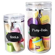 Labels For Kitchen Canisters Amazon Com Popular Chalkboard Labels U0026 Chalk Marker Complete 48