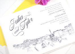 wedding invitations las vegas vegas skyline wedding invitations