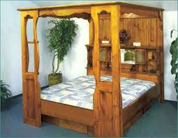 King Wood Bed Frame Rustic Wood Canopy Bed Frame Luxurious Wood Canopy Bed Frame