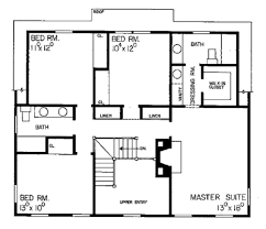 Saltbox Floor Plans Colonial Style House Plan 4 Beds 2 5 Baths 2598 Sq Ft Plan 72