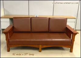 mission style leather sofa used arts crafts mission style leather sofa
