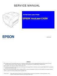 epson aculaser c4200 service manual printed circuit board
