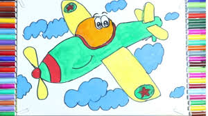 airplane coloring pages draw and coloring the planes for