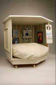 fun diy dog bed made from old nightstand loved the framed