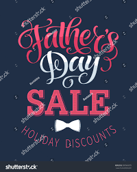s day shopping fathers day sale vector illustration discount stock vector