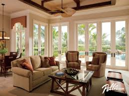 Ceiling Fan For Living Room by Dining Room Pella Windows With Glass Door And Ceiling Fan Plus