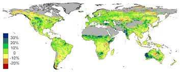 Sattelite World Map by Satellites Capture Co2 Fertilization In World U0027s Deserts Via