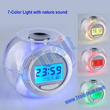 best light alarm clock 7 gradual color colrful led light with 6 natural sound alarm clock
