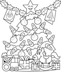 presents under tree free coloring pages for christmas christmas