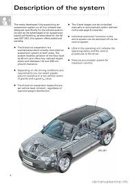 audi a6 allroad 1999 c5 2 g pneumatic suspension system