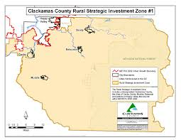 Portland Oregon County Map by Business Oregon Strategic Investment Program