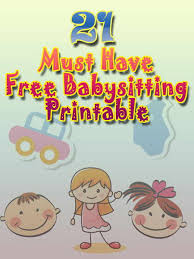Baby Sitting Resume Collection Of Free Printable Babysitting Activities For Those Who
