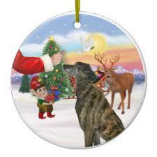brindle greyhound ornaments keepsake ornaments zazzle
