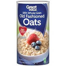 great value 100 whole grain old fashioned oats 42 oz canister