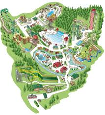 Pigeon Forge Tennessee Map by Water Park Map