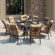 Aluminum Cast Patio Dining Sets - shop darlee 9 piece cushioned cast aluminum patio dining set at
