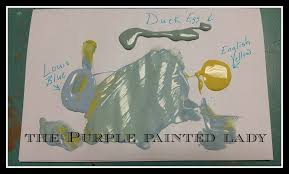 color mixing with chalk paint the purple painted lady