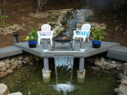 Small Patio Water Feature Ideas by Enchanting Patio With Firepit Ideas Pics Inspiration Tikspor