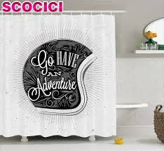 Vintage Style Shower Curtain Graphic Shower Curtain Home Decorating Interior Design Bath