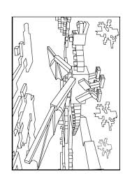 a minecraft enderman coloring page birthday ideas pinterest