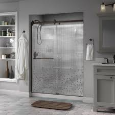 Bathroom Shower Doors Home Depot by Delta Simplicity 60 In X 71 In Semi Frameless Contemporary Style