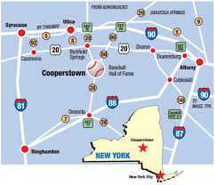 New York State Map Driving Directions Baseball Hall Of Fame