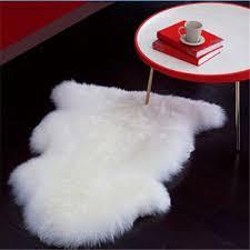 Polar Bear Fur Rug Decor Faux Bear Skin Rug With Head Fur Rug White Sheepskin Rug