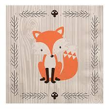 woodland creatures baby shower luncheon napkins 16 ct