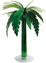 palm tree table decor accessories makeup