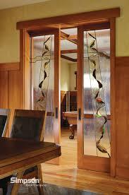 Decorative Glass Doors Interior Decorative Glass Interior Doors Shown In Douglas Fir