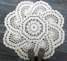 crochet doily rug rugs ideas