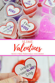 printable stickers valentines slime valentines with free printable label stickers