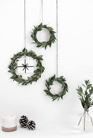 Homemade Christmas Wreaths by 19 Minimalist Christmas Decorations To Diy This Weekend Freshome Com