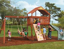 Backyard Swing Set Plans by Swing Set Plans Bayside Wooden Swing Set From Big Backyard