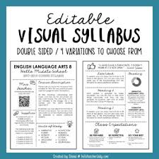 editable visual syllabus templates pack by hello teacher lady