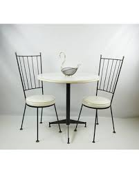 Wrought Iron Bistro Chairs Bargains On Mid Century Antarenni Wrought Iron Chairs Table Set
