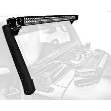 Jeep Wrangler Led Light Bar by Zroadz Z374811 Kit Jeep Wrangler Windshield Mount 52