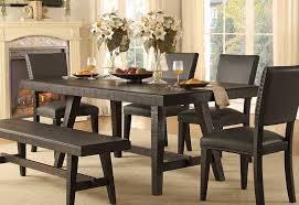 homelegance fenwick rectangular dining table dark gray 5480 76