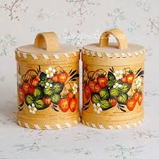 buy kitchen canisters to buy russian painted birch bark kitchen jars in beryosta