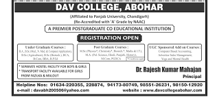 welcome to dav college abohar