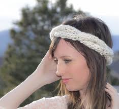 knit headbands cabled crown knit headband pattern in a stitch