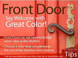 choosing front door color no need to make the front door match the shutters choose another