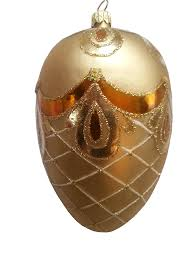 amazon com faberge egg golden bow hand painted christmas
