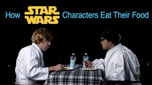 star wars characters eat food animals eat