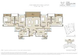 floor plan of one bangalore west premium flats in bangalore