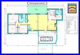 plan 4 chambres plain pied plan maison 4 chambres 1 etage dune plain pied morne